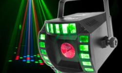 In excellent condition, includes manual and box. Innovative LED fixture that saves setup time and money by combining the popular derby and moonflower effects into one great fixture Improved automatic & sound active programs guarantees your party never
