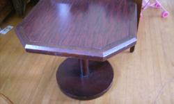 """CHERRY WOOD PEDESTAL TABLE Dimensions; H= 24"""" top - 28"""" x 28"""" CALL ANYTIME: (905) 382-6428 ELIZA Check out my other ads!!!"""