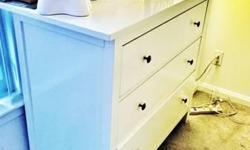 White finish chest drawer