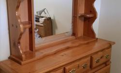 7- drawers - Dresser - Nice wood plus matching 5 drawer chest and includes large mirror. $225 for the pair