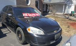 Make Chevrolet Year 2007 Colour Black Trans Automatic kms 220000 Make me an offer. Was Wife's car. Best Cash offer ASAP , takes the car. Winter tires on rims Orig Alum. Rims with Tires Sold As is. Needs right passenger side brakes done. Recent Repair -