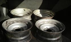 9 chevy truck rally wheels 8 in and 7in some caps no rings
