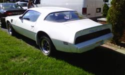 1980 trans am all original. It has a brand new dual exhaust. I am selling it because I no longer have any room for it at my place. I am askin $4000 or best offer please call Norm at 1416-451-5314