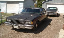 I have 2 Caprices for sale.The 1984 (drk brown,380,000kms.) is actively still on the road.The body is getting rough,but has many good parts on it as a parts car.I bought the 86(grey122,000 original kms.) with the intentions of restoring it.This car is