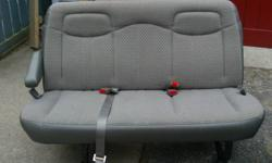 I have 3 bench seats out of a 2005 Chevrolet Express Extended so I have two 3 seaters and a 4 seater bench seat. Small stains in 2 seats from the previous owner(small and blend in). All are in good condition, one has a small tear in the upper portion. 100