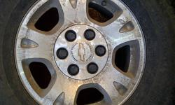 i have 4 factory aluminum truck rims for sale off my 2002 avalanche. all 4 are in good shape but does need rubber, i removed them to install larger rims and tires. i am also open to offers but would like to get $400.00 for the set and sell all 4 together.