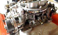 Carter Universal 625 CFM Competition Series aluminum four barrel Performance Carburetor 9000 Series model 9635 SA with electric choke, this would fit most Mopar Chrysler Dodge Plymouth Ford GM Chevy Pontiac Buick Olds AMC in decent shape, used, missing