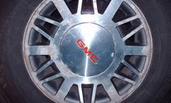 4 chevy or gmc rims off  2000 sonoma  4x4 with center caps.No tires just rims, will fit s10,sonoma or blazer 4x4