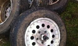 A set of four tires and rims for a s10 one tire not went through a good peel out recently resealed and balanced 200 or best offer This ad was posted with the Kijiji Classifieds app.