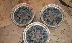 i have 3 chevy s10 rims 14 inch / 5 bolt solid rims they just have surface rust need sandblasted and paint makes for a good spare tire $10 each rim   other various s10 parts available