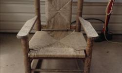 Weathered but great condition child's rocking chair