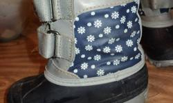 I have a variety of boys and girls and baby clothes.  Please see my other ads.   In this ad, I am posting a pair of winter boots, in great shape.  No marks or holes.  Velcro closure, Winnie the Pooh - suitable for a boy or a girl. Smoke free home.   New