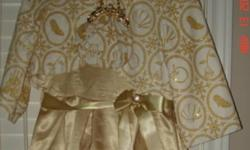 Size - Child large (10-12) This a Disney Store gold formal dress. Comes with fur-trimmed jacket and matching purse. Would make a beautiful Christmas dress. This ad was posted with the Kijiji Classifieds app.