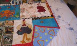 """""""I Spy"""" quilt..to keep them warm  and entertained searching out the pictures.     would make a great gift for that special child in your life."""