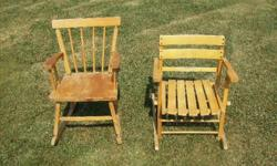 I have 2 rocking chairs. I am asking $20.00ea. or both for $30.00 Be sure to see my other ads, thank-you.