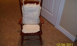 Childs Rocker W/ Chair Pad Very Good Shape Price 30.00 Make a nice addition to your childs room