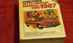 CHILTON'S       auto repair manuals   1987       1980-87 1992       1988-92   Import car manual   1987        1980-87   $60.00 each or b/o   call 705 874-8371