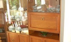 """China cabinet $150.00 obo. 6' height, 5'1"""" width"""