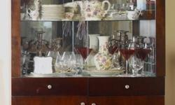 China Cabinet 41 inches wide x 14 inches deep x 77 inches tall. Call George at (604) 765-7653 if you need a China Cabinet.