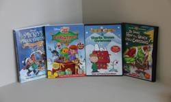 Titles * Mickey's Magical Christmas * A Charlie Brown Christmas * How the Grinch Stole Christmas * Winnie the Pooh Christmas Movie Excellent condition - never handled by children.