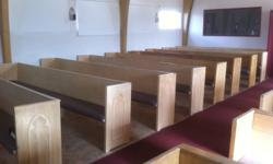 We are replacing our church pews and have 16 solid wooden pews (possibly fir) for sale. Our replacement seating arrives Oct.03.11 so the pews will need to be removed earlier the same day.