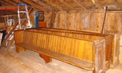 I have four 10 foot long solid pine church pews from an early 1800's church.They can be sold as is or we can custom cut to desired length to make a useful bench. Reasonably priced either way. Please see my other ads.