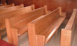 We have 16 solid oak Church Pews for $100 each. 9 Feet 3.5 inchs long. Excellent Condition. Can be cut down in length will consider delivery locally.