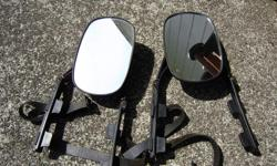 """Universal in application and position Clips directly onto existing mirrors for quick setup with no tools required Extends your towing vision up to 7"""" Adjustable arms fit tight on any mirror for a steady vibration-free ride A good economic alternative to"""