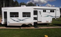 2003 Citation Supreme 33 foot 5th Wheel ·     Polar pack Rated to -30 Celsius ·     Stormtite tinted duel pane windows ·     3 slides ? TV, desk, fireplace- Hide a bed, dining table - bedroom ·     Datliter, large duel pane residential skylights ·