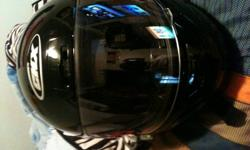 Selling this helmet because i dont use it anymore. I used it when i used to ride my pocket bike but dont anymore. Its in good condition just some minor scratches. Email me if interested.