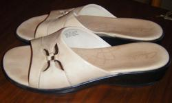 Size 9 like new Clarke's leather sandals Worn once