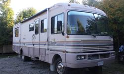 Class A Motor home for Sale 32 foot diesel pusher. 1992 Fleetwood bounder, 5.9 Cummings diesel engine147500 Ks Unit is in great shape Full size awning no rips All windows have awnings 6500 watt ONan Generator diesel 400 hours All tires are in great shape