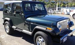 Make Jeep Model YJ Year 1993 Colour green kms 168066 Trans Manual Classic Jeep Wrangler YJ 1993. Well maintained,runs great, very clean. Hard and soft top in great condition. Manual 5-speed. Bicycle rack included. Perfect for summer fun!!! Asking $6900.00
