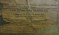 Antique Clock case alone ....includes gong.... but no workings ...$10