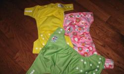 20 Cloth AIO Babyland diapers, with 40 Inserts and three wet bags. There are all different designs :) More pictures available upon request. Asking 200 OBO.