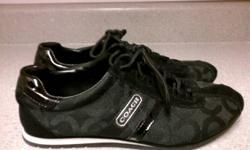 Authentic Coach running shoes   Black light and comfortable runners, size 6 Brand new - as you can tell by the bottoms of the shoes   Willing to deliver, may charge extra depending upon location
