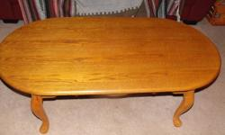 """Coffee table in good shape.  48"""" long X 25"""" wide X 16 high.  Solid"""