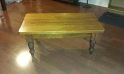 Antique solid wood coffee table.