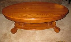 Coffee Table and Two Matching End Tables, Solid Oak, They are like new and in great condition. $350 for all three. Paid $1000 brand new.