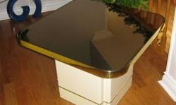 Coffee Tables cream colour with mirror top excellent shape a must see. Long coffee table 48 X 30 two end tables 271/2 X 271/2