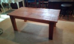 """This is a rustic barn board coffee table in great condition. It is 48"""" wide x 26"""" deep x 20"""" high. Asking $145.00 obo Local delivery available for a small fee. Check out my other ads for more interesting furniture etc.."""