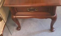 Elegant Coffee Table with 2 End Tables. Coffee table in perfect shape a couple tiny marks on end table (barely noticeable) part of estate sale asking $185