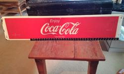 """Vintage Coke sign in very good condition. 47"""" wide and 10"""" high Asking $85obo Located in Nepean. Check out our other ads too."""