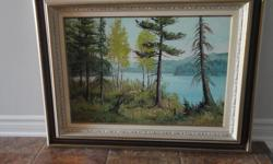 """Original Artwork Beautiful original artwork from Canadian Artist Cole Bowman. Purchased decades ago...probably in the 70's. Was my grandparents. Artist now deceased. Titled' Ottawa Valley'. Beautiful wood frame. Excellent condition! 27"""" x 35"""""""