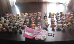 There are 86 Littlest Pet shops in mint condition, including mini ones that come with a fun little house! My daughter used to love these fun toys but now she has out grown them and would like to sell them to someone that would use them! Spent over $350