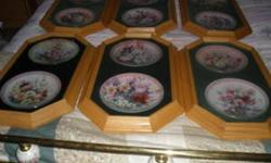 """hese are 12 """"Symphony of Shimmering Beauty"""" collector plates. There are 12 of them in mint condition and professionally framed. asking $150 for all OBO"""