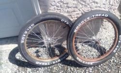 Vintage groove tread GTX 442 tires from the 70's!! They sell for a lot more!!