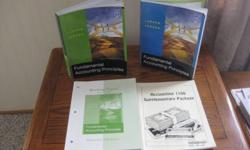 """""""Business & Accounting """"   Various College / University text books *Fundamentals of Accounting Principles  Larson / Jensen - 12th edition - Volume 1 & 2 (with working papers). Both clean & Vol. 2 never used.  (Paid over $200) Asking $ 40.00 complete."""