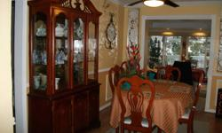 Paid $2600.00. Purchased from Sears. Excellent condition. Table,6 chairs buffet & hutch. Selling for $1100.00.