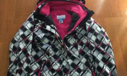 Brand of the jacket is Columbia. Size of the jacket is Girls Small/Medium (10/12). Jacket has a detachable inner core fleece. Jacket also has a detachable hood. Originally paid $250 for the jacket. Asking $50 for the jacket. Contact Nick. Thanks.